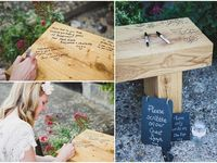 Guest book ideas rustic