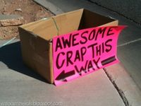 We love it when people get creative with their yard sale signs!