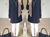 Casual outfit hijab