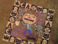 cross stitch- Boo!