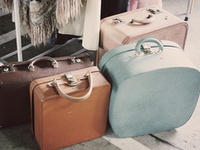 I have an obsession for vintage suitcases. I love finding new uses for them...and just appreciating them in general.
