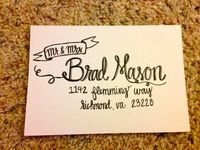 Hand lettered and Calligraphy Envelopes