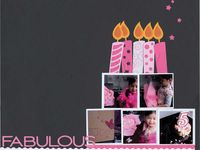 Birthday (or age) scrapbook pages