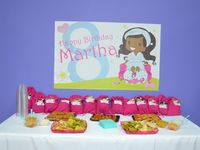 Girly 7th birthday spa themed soiree