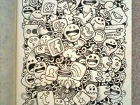 Doodle/ kawaii draw/ zentangle+ mandala