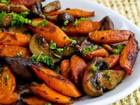 ... | Roasted carrots, Roasted brussels sprouts and Roasted vegetables