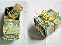 #gift #origami #shape #cash #animal #money #diy