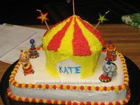 Circus cupcake