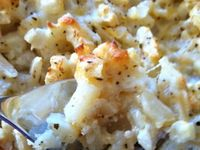 ... | Loaded Cauliflower, Garlic Mashed Cauliflower and Asparagus