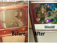 ... about Repurposed on Pinterest   Console tv, Old tv consoles and Old tv