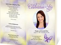 Bea's funeral programme
