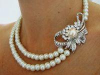 Pearls necklace & earrings