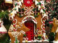 Maisons de pain de gingembre de Noël
