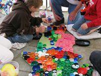 bottle cap mosaics