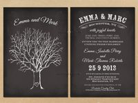 Chalkboard Wedding Invitations / Wedding themes are present on many of these beautiful invitations. This board features hundreds of Chalkboard Wedding Invitations designs for you.  They are perfect for celebrating your Big Day. Check it out!