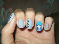elephant themed nail art