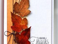 Card autumm, fall, efterår,dekoration