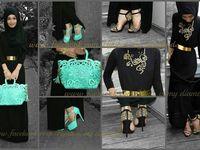 hijab evening style / hijab caftan /  evening style
