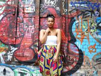 Clothing made from the famous African printed cotton fabric