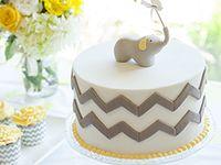 Yellow and grey cake smash