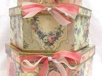Hat Boxes can be used for storing  all your keepsakes,  jewelry, pictures, scarves, office supplies, diaries, journals, Barbies and their clothes.  They are beautifully decorated for your bedroom or living room.  All these hat boxes are very beautiful and charming, they add personality to any room.