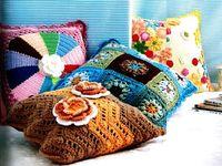 Crochet Pillows, Poufs, Cushions etc...