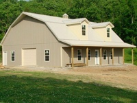 22 best images about barn plans on pinterest pole barn for Gambrel garage with apartment floor plans