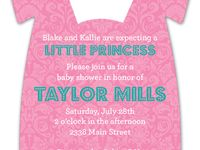 Onesie Invitations / Onesie Invitations for Baby Showers for Girls and Baby Shower for Boys at Polka Dot Design Baby Shower Invitations.
