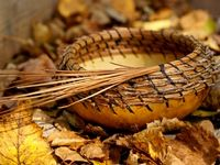 Pine needle baskets ...& Gourds too!