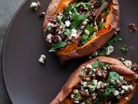 Baked Sweet Potato with Chilli Con Carne