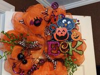 Halloween wreaths,ideas and crafts