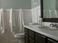 ... bilder om Bathrooms på Pinterest  Toaletter, Hyllor och Toalettbord