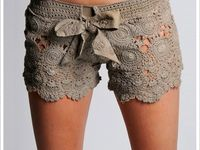Crochet or knit shorts, skirts and pants