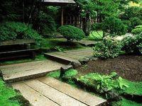 jardin design / diseños de jardines y patios con suelos de terrazo y demas variedades de pavimentos con la decoracion incluida