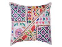 Textil Hogar / Cojines Banjara, cojines boho. Sombrillas Indias Plaids Vintage.  www.chicandclic.es