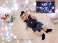 ایده عکس ماهگرد نوزاد دختر در منزل