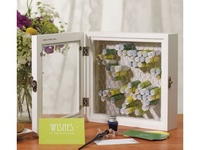 Rustic guest book and card holder