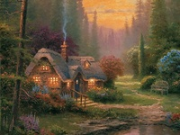 Thomas Kinkade, Painter of Light, dies at the age of 54. R.I.P. 1958 - 2012