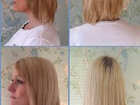 Hair extensions for short hair before and after