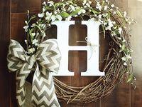 Wreaths and front door stuff
