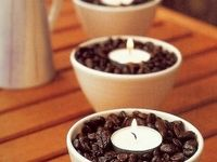 Candles in Coffee Beans