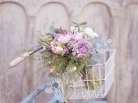Bicycles and flowers