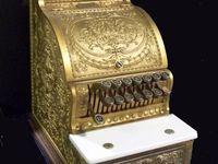Cash registers, scales and weights