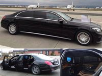 Armored Mercedes Benz Pullman Limo This Bulletproof Limo Is Available For Armoured Car Hire Throughout Europe Book Thi Mercedes Benz Limousine Car Mercedes