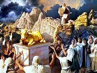 Moses The Golden Calf On Pinterest Golden Calf