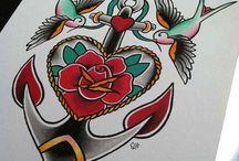 oldschool tattoo design