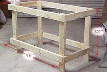bancadas / bancadas simples para construir com poucas ferramentas