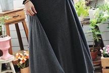 Long skirt (Moeslimah fashion) / including long skirt, long dress, long t-shirt, veils etc.