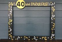 40th birthday photobooth ideas for her