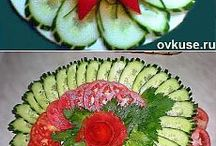 dekorace slané mísy a zelenina